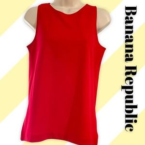 Banana Republic Red tank, flyaway back, XS
